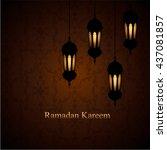 ramadan kareem greeting... | Shutterstock .eps vector #437081857