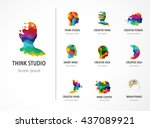 brain  creative mind  learning... | Shutterstock .eps vector #437089921