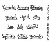 12 month of year   january ... | Shutterstock .eps vector #437096419