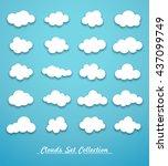 clouds set vector | Shutterstock .eps vector #437099749