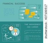 business concept. modern linear ... | Shutterstock .eps vector #437100517