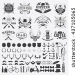 hipster style design elements... | Shutterstock .eps vector #437105065