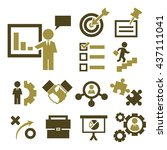 startups  new business icon set