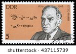 east germany  1979  otto hahn ... | Shutterstock . vector #437115739