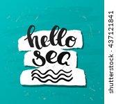 trendy lettering poster. hand... | Shutterstock .eps vector #437121841