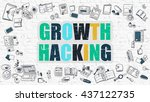 growth hacking concept. growth... | Shutterstock . vector #437122735