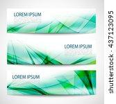 abstract header green wave... | Shutterstock .eps vector #437123095