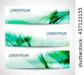 abstract header green wave... | Shutterstock .eps vector #437123155