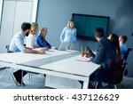 executive businesswoman... | Shutterstock . vector #437126629
