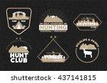 set of hunting logos  badges... | Shutterstock .eps vector #437141815