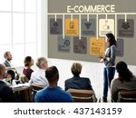 e commerce advertisement... | Shutterstock . vector #437143159