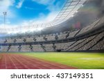 composite image of a stadium... | Shutterstock . vector #437149351