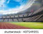 composite image of a stadium... | Shutterstock . vector #437149351