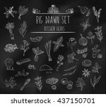 set of various doodles  hand... | Shutterstock . vector #437150701