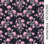 seamless floral pattern with... | Shutterstock . vector #437151565