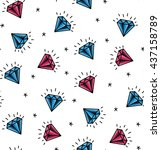 vector seamless pattern with... | Shutterstock .eps vector #437158789