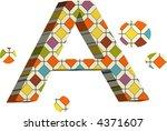 alphabet icon font design text logo element - stock vector