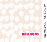 retro flat balloons pattern.... | Shutterstock .eps vector #437164249