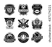 sports vector icons 30 | Shutterstock .eps vector #437174221