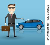 businessman or manager is...   Shutterstock .eps vector #437180521