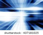 futuristic blue motion...   Shutterstock . vector #437181025