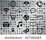 internet web icons collection... | Shutterstock .eps vector #437183365