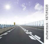 highway background road china | Shutterstock . vector #437193235