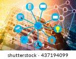 smart building and internet of... | Shutterstock . vector #437194099
