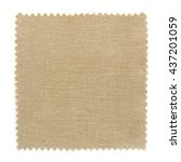 brown fabric swatch samples... | Shutterstock . vector #437201059