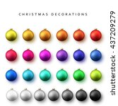 Balls Set Of Bright Christmas...