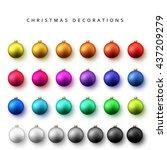 Balls Set Of Bright Christmas...