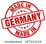 made in germany stamp | Shutterstock .eps vector #437212114