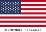 american flag | Shutterstock . vector #437213197