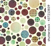 cloth circles seamless pattern | Shutterstock .eps vector #437213839