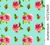 Roses Repeating Pattern  With...