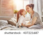 happy loving family. mother and ... | Shutterstock . vector #437221687