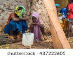 editorial use only. women work...   Shutterstock . vector #437222605