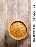 Bamboo Basket Steamer On Wood...