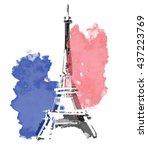france  paris urban sketch.... | Shutterstock . vector #437223769