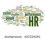 vector concept conceptual hr or ... | Shutterstock .eps vector #437224291
