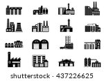 industrial and manufacturing... | Shutterstock .eps vector #437226625