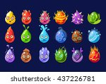 flash game nature elements set... | Shutterstock .eps vector #437226781