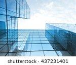 toned image of modern office... | Shutterstock . vector #437231401