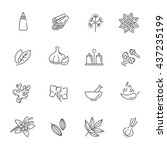 outline icon set   spices ... | Shutterstock .eps vector #437235199