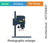 icon of photo enlarger. flat...