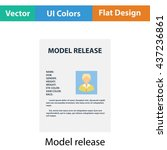 icon of model release document. ...