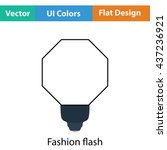 icon of portable fashion flash. ...