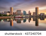 baltimore  maryland  usa... | Shutterstock . vector #437240704