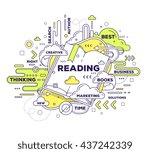 vector creative illustration of ... | Shutterstock .eps vector #437242339
