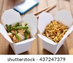Chinese Take Out Food In Boxes...
